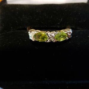 Technibond Peridot Ring